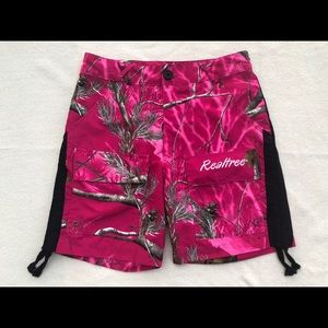 Realtree pink Camouflage ladies shorts size medium